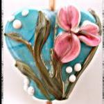 True Heart 2 Lampwork Focal- SRA