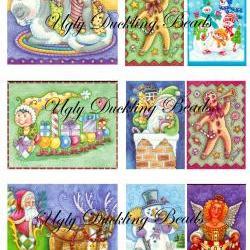 "Digital Images Collage Sheet - Clip Art Elements- Digital Scrapbooking- ""Christmas 1"""