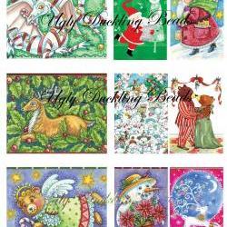 "Digital Images Collage Sheet - Clip Art Elements- Digital Scrapbooking- ""Christmas 2"""